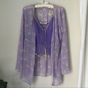 Victoria's Secret Babydoll & Robe Set